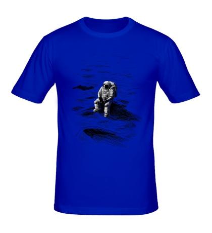 Мужская футболка Одинокий астронавт