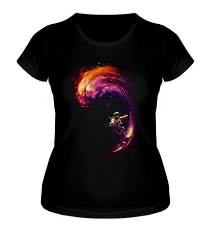Женская футболка Космический Серфинг