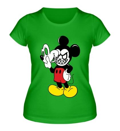 Женская футболка Evil Mickey Mouse