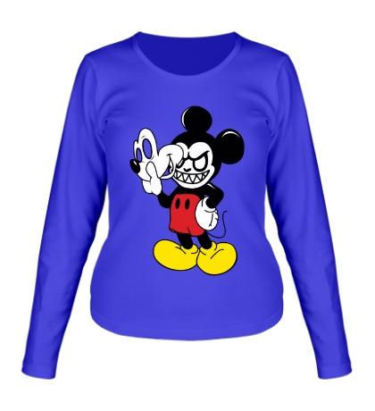 Женский лонгслив Evil Mickey Mouse