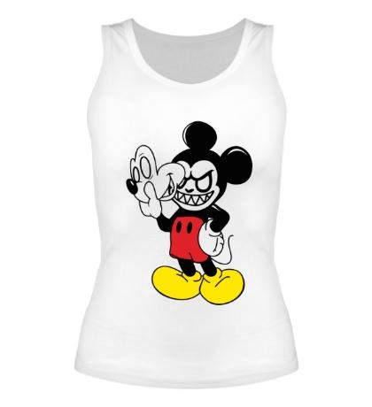 Женская майка Evil Mickey Mouse
