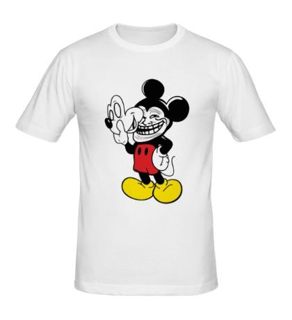 Мужская футболка Trollface Mickey Mouse