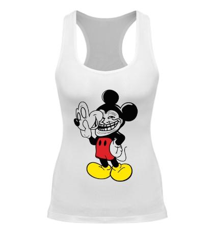 Женская борцовка Trollface Mickey Mouse