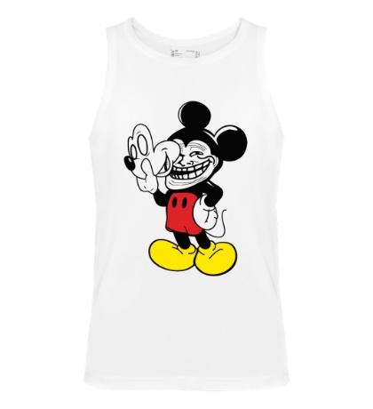 Мужская майка Trollface Mickey Mouse