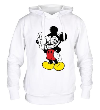Толстовка с капюшоном Trollface Mickey Mouse