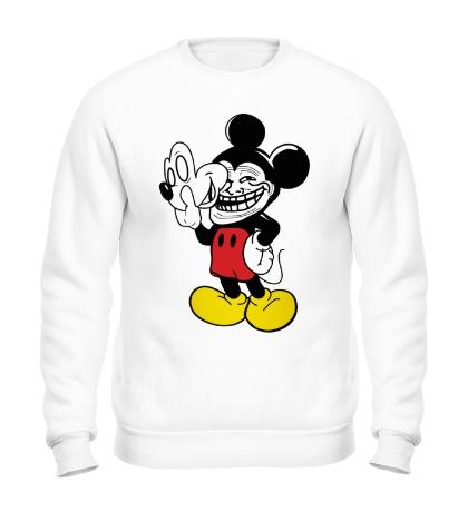 Свитшот Trollface Mickey Mouse