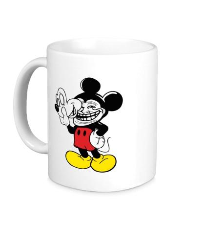 Керамическая кружка Trollface Mickey Mouse