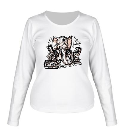 Женский лонгслив DJ Elephant