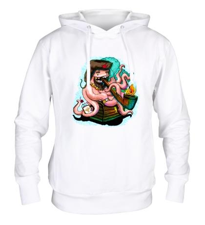 Толстовка с капюшоном Советский осьминог