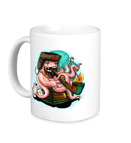 Керамическая кружка Советский осьминог