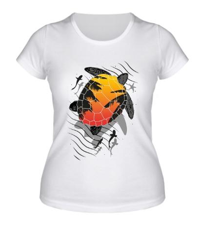 Женская футболка Морская черепаха