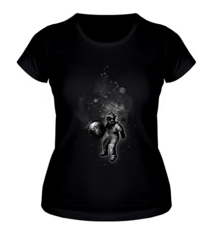 Женская футболка Подводный космос