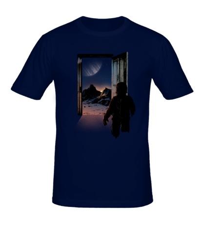 Мужская футболка Дверь в космос