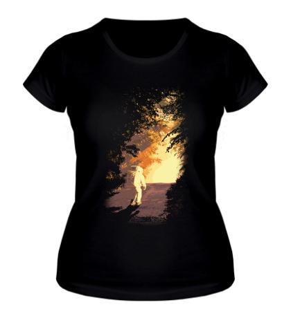 Женская футболка Галактический автостопщик