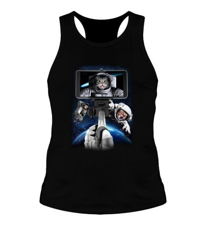 Мужская борцовка Коты-астронавты