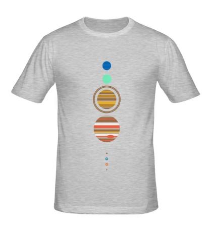 Мужская футболка Парад планет
