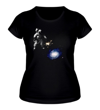 Женская футболка Освещая галактику