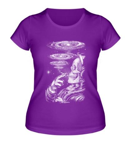 Женская футболка Курящий космонавт
