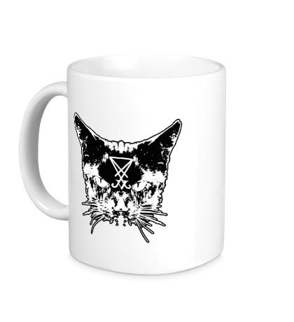 Керамическая кружка Дерзкий кот