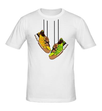 Мужская футболка Кроссовки на шнурках