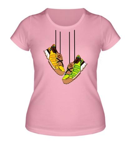 Женская футболка Кроссовки на шнурках