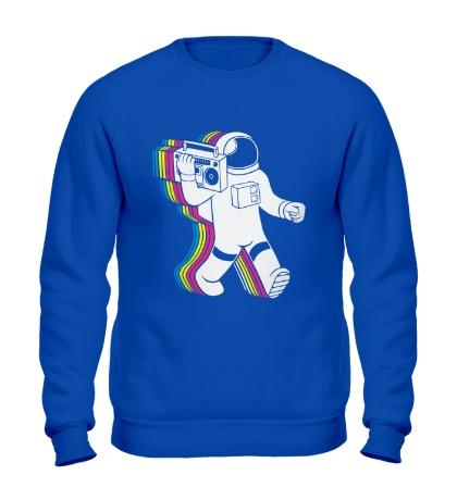 Свитшот Космонавт с магнитофоном