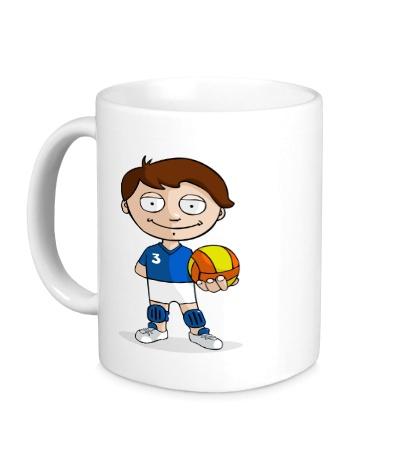 Керамическая кружка Volleyball Boy