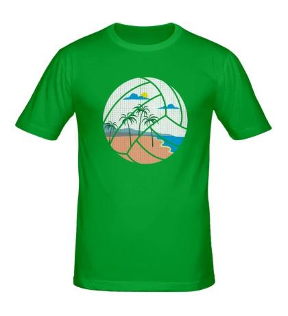 Мужская футболка Пляжный Волейбол