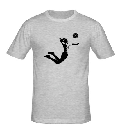 Мужская футболка Волейболист