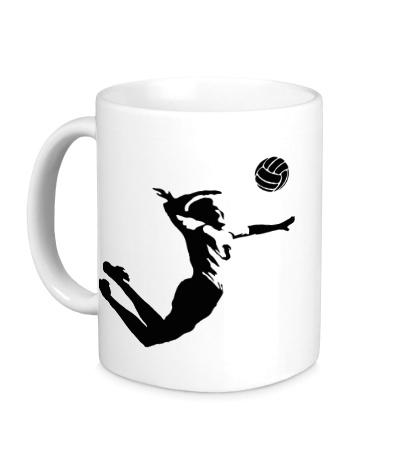 Керамическая кружка Волейболист