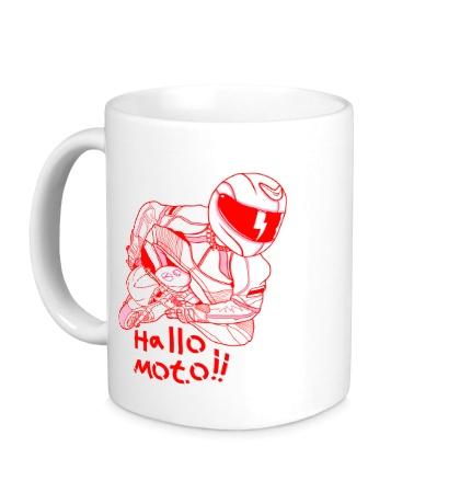 Керамическая кружка Привет Мото