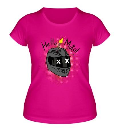 Женская футболка Hello Moto