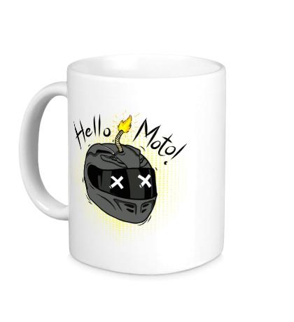Керамическая кружка Hello Moto