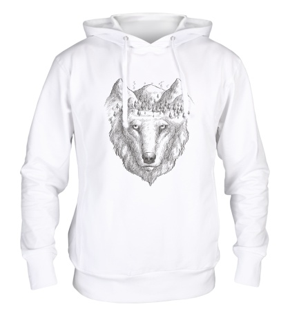 Толстовка с капюшоном Взгляд волка