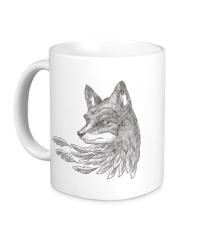 Керамическая кружка Взгляд лисы