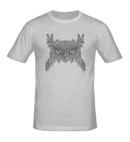 Мужская футболка Взгляд совы
