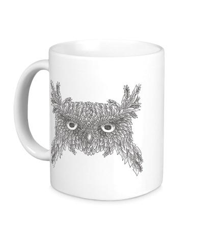 Керамическая кружка Взгляд совы