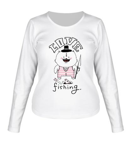 Женский лонгслив Love Fishing