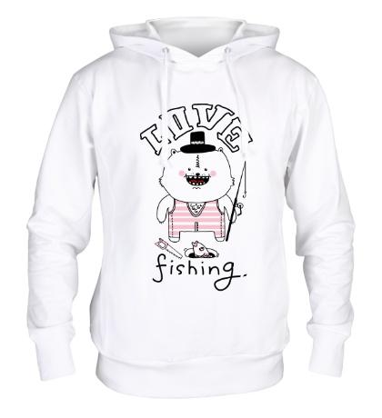 Толстовка с капюшоном Love Fishing