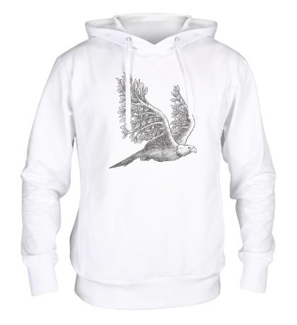 Толстовка с капюшоном Взмах орла