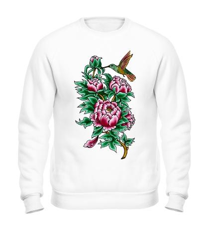 Свитшот Колибри в цветах