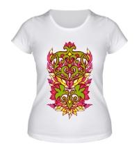 Женская футболка Узор с перьями