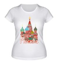 Женская футболка Моя Москва