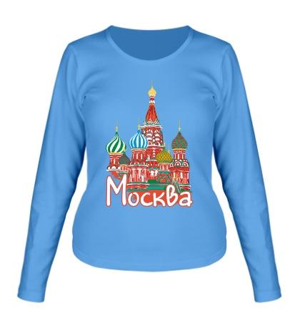Женский лонгслив Моя Москва