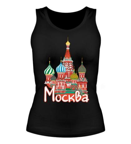 Женская майка Моя Москва