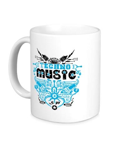 Керамическая кружка Techno Music Star