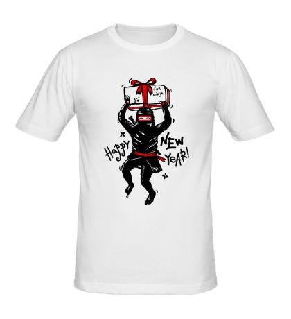 Мужская футболка Подарок от ниндзя