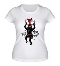 Женская футболка Подарок от ниндзя