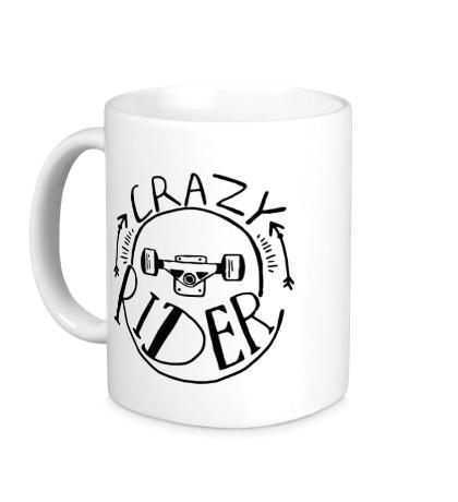 Керамическая кружка Crazy Rider