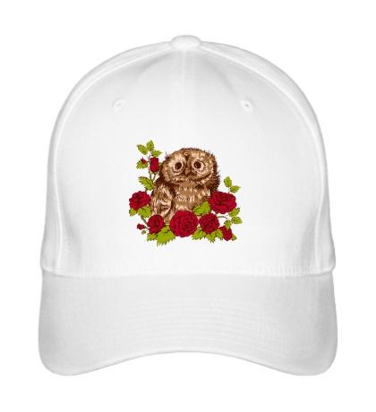 Бейсболка Сова в розах